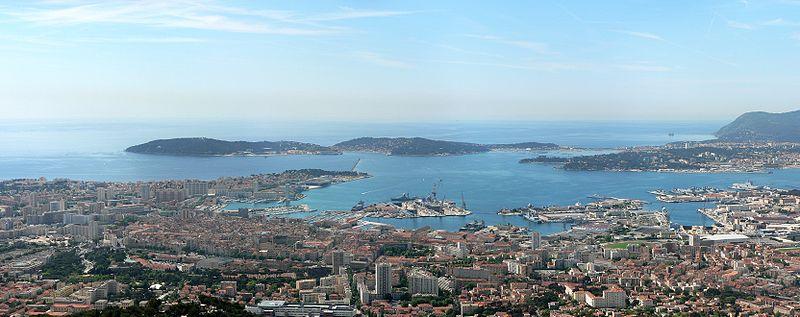Vue panoramique de Toulon